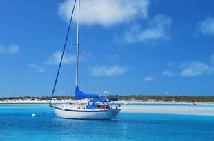 sail boat in the Caribbean
