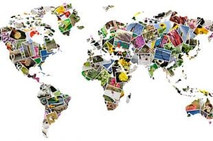 world map as photos