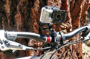 Gopro camera on bike
