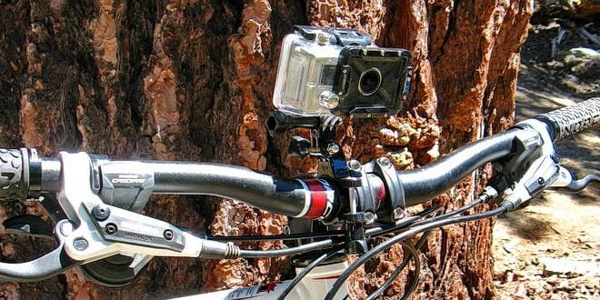 Gopro camera on bike
